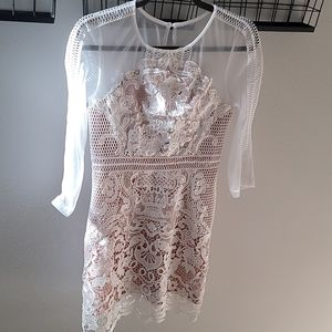 New White Lace/mesh dress